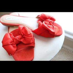 BOLD AND FUN Red Karl Lagerfeld sandals